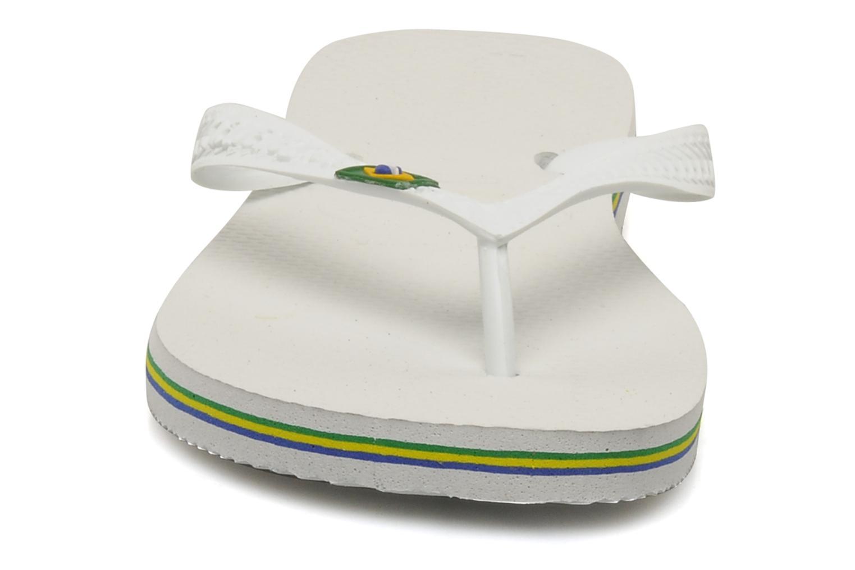 Chanclas Havaianas Brazil H Blanco vista del modelo