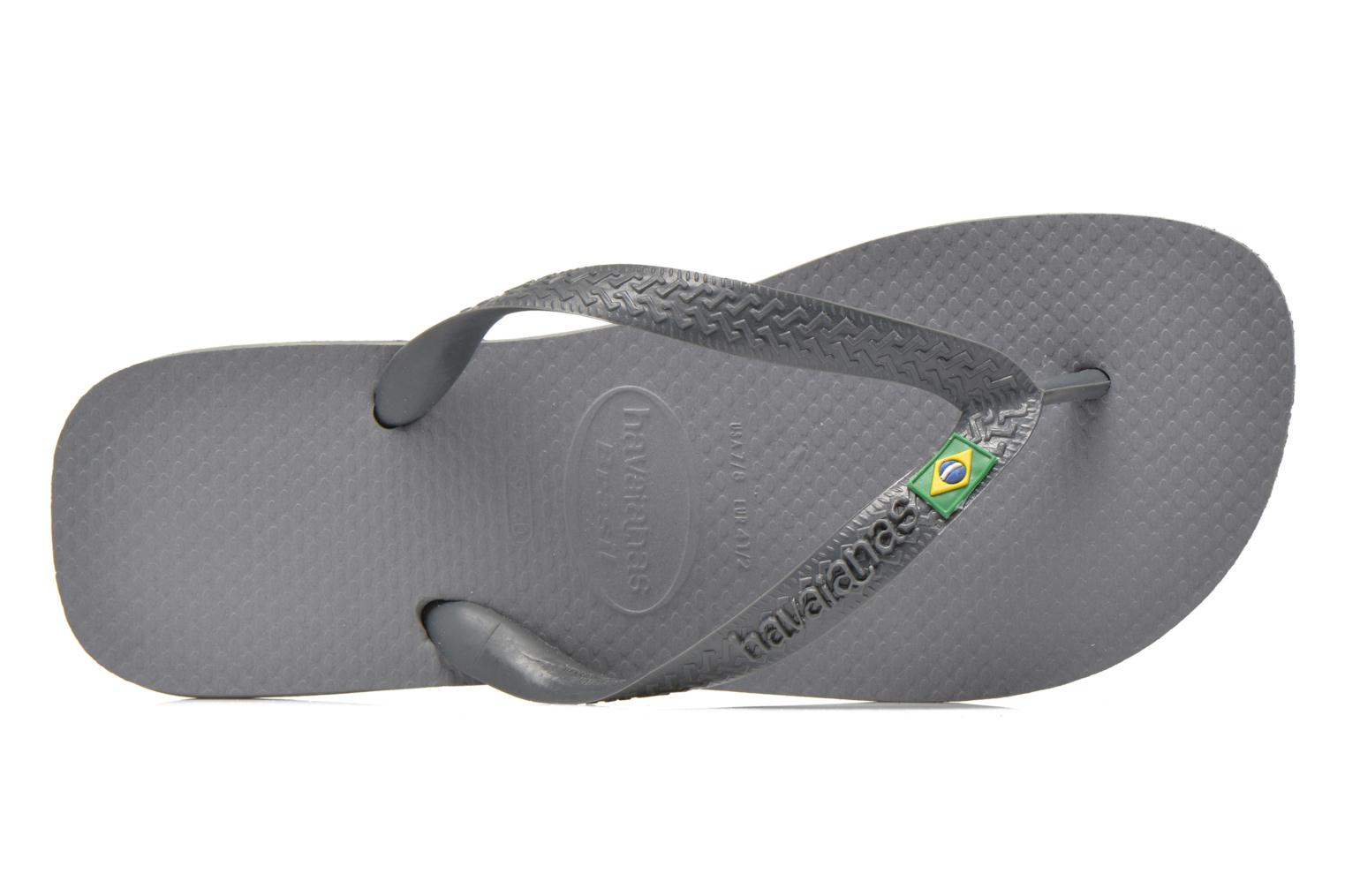 Flip flops Havaianas Brazil H Grey view from the left