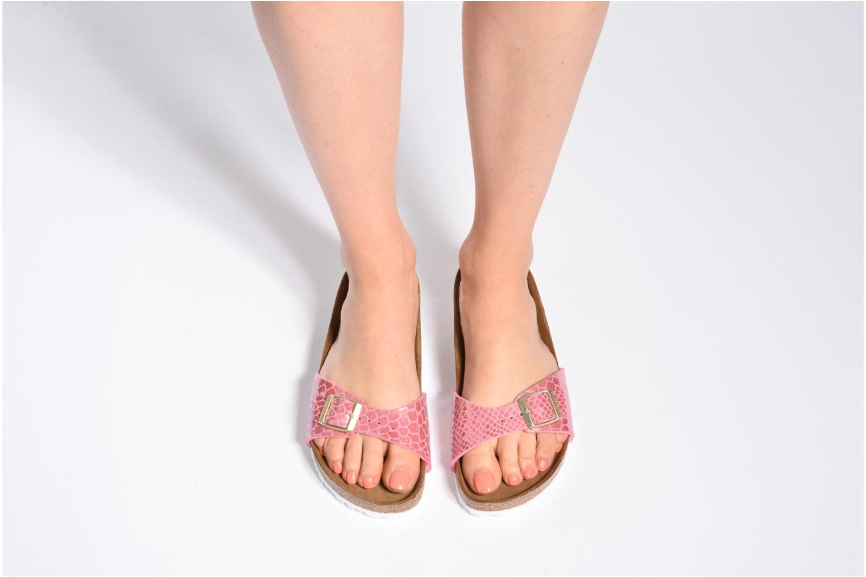 Clogs & Pantoletten Birkenstock Madrid Flor W rosa ansicht von unten / tasche getragen