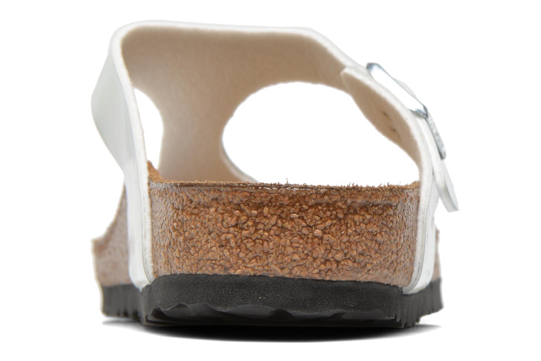 Sandales et nu-pieds Birkenstock Gizeh Flor W Argent vue droite
