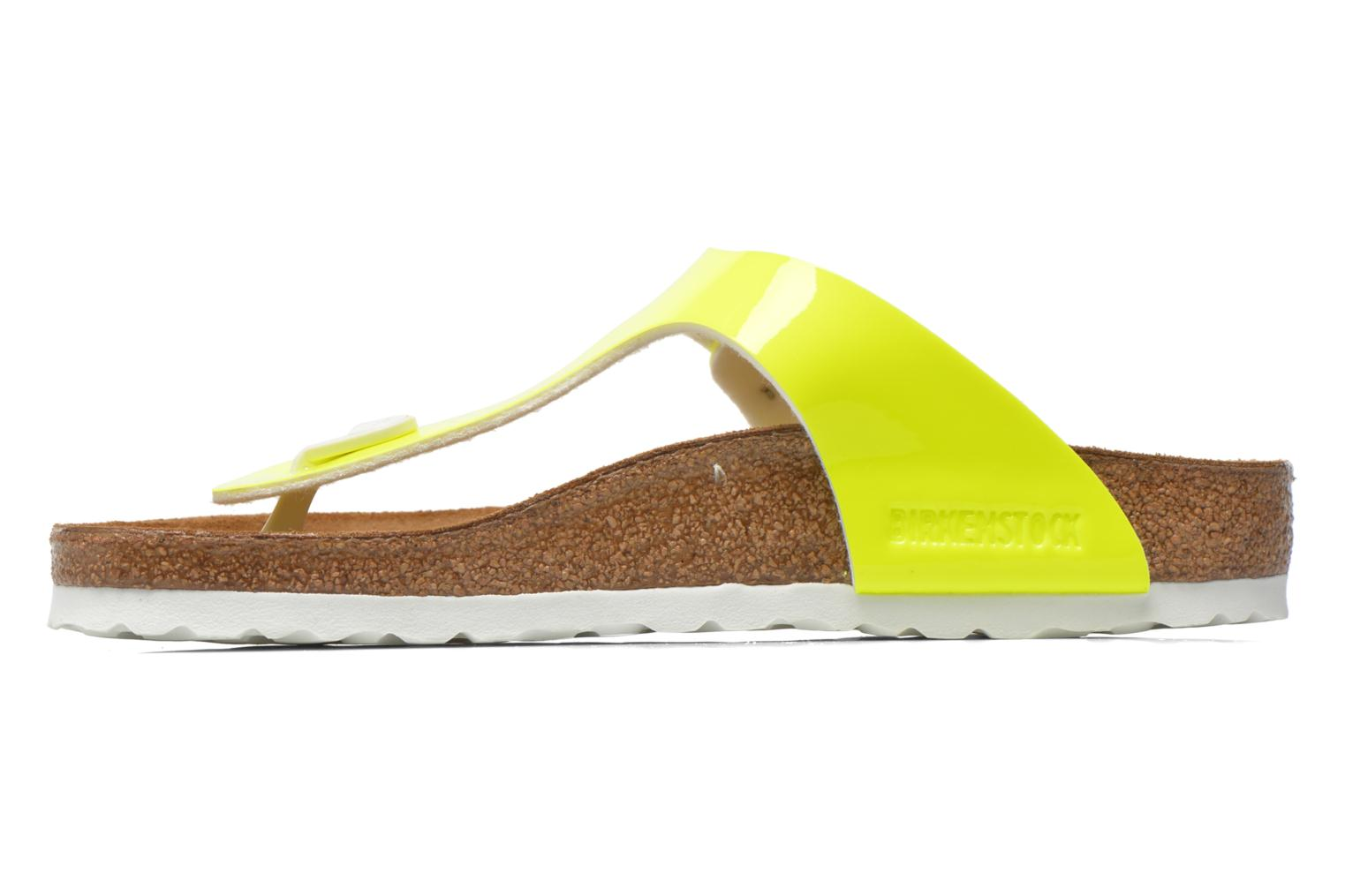 Sandals Birkenstock Gizeh Flor W Yellow front view