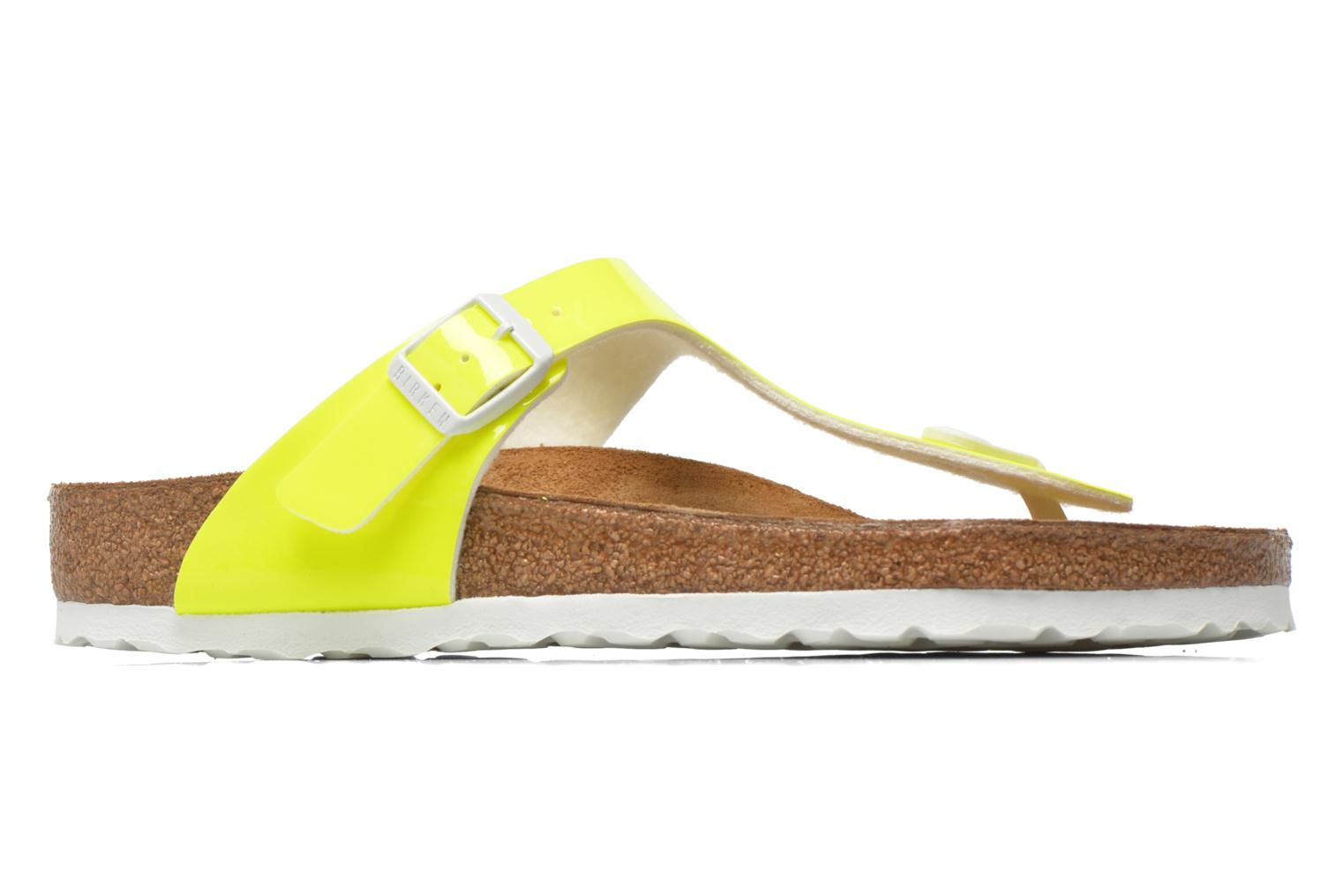 Sandals Birkenstock Gizeh Flor W Yellow back view