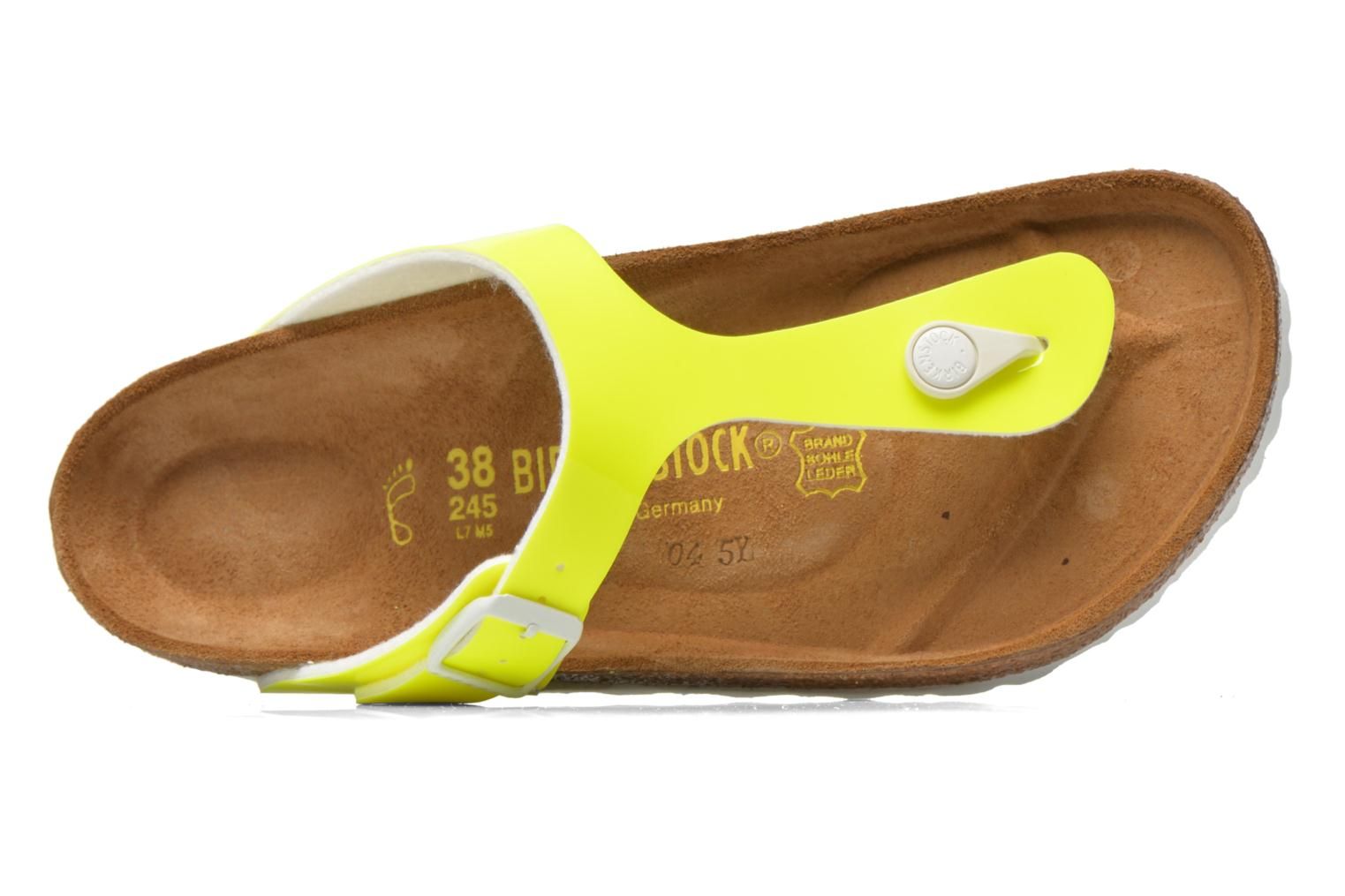 Sandals Birkenstock Gizeh Flor W Yellow view from the left