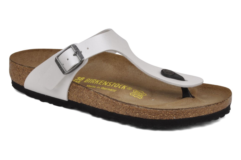 Los últimos zapatos de hombre y W mujer Birkenstock Gizeh Flor W y (Blanco) - Sandalias en Más cómodo 698248