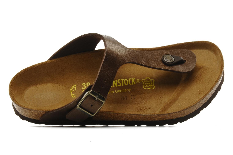 Sandales et nu-pieds Birkenstock Gizeh Flor W Marron vue gauche