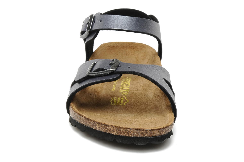 Sandales et nu-pieds Birkenstock Rio Flor E Gris vue portées chaussures