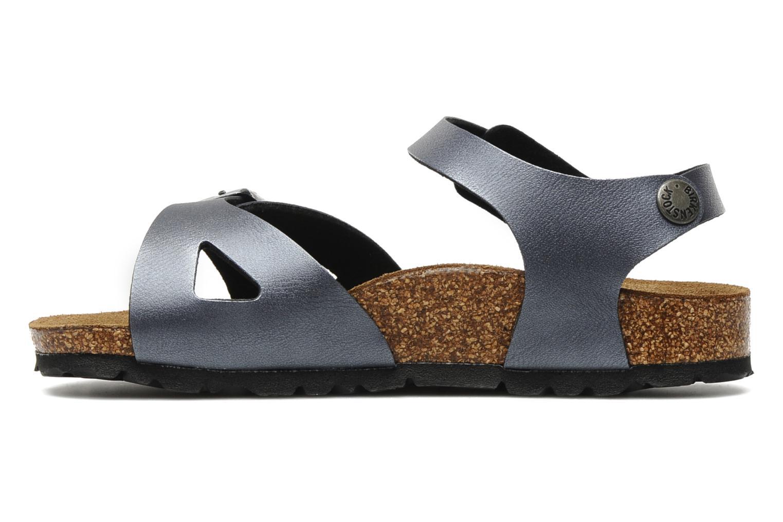 Sandales et nu-pieds Birkenstock Rio Flor E Gris vue face