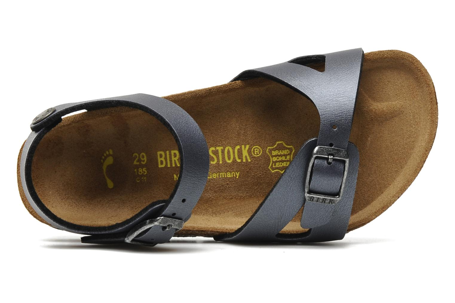 Sandals Birkenstock Rio Flor E Grey view from the left