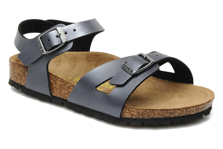 Sandals Birkenstock Rio Flor E Grey detailed view/ Pair view