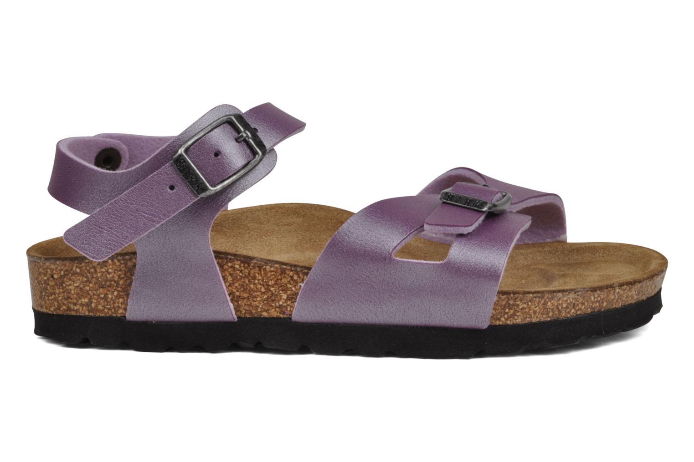 Sandales et nu-pieds Birkenstock Rio Flor E Violet vue derrière