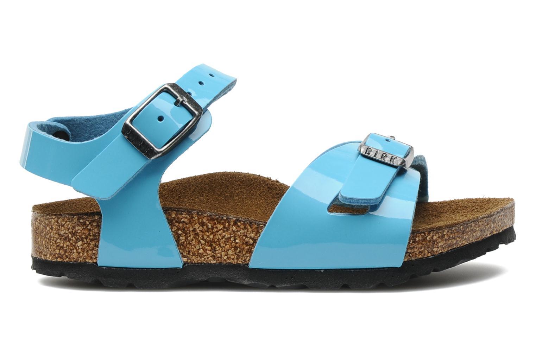 Sandalen Birkenstock Rio Flor E blau ansicht von hinten