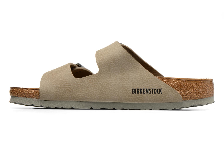 Sandals Birkenstock Arizona Flor M Brown front view