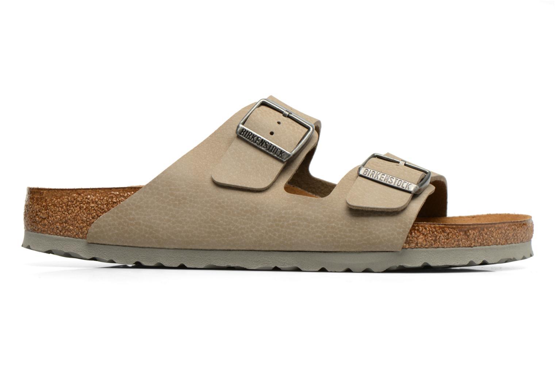 Sandales et nu-pieds Birkenstock Arizona Flor M Marron vue derrière