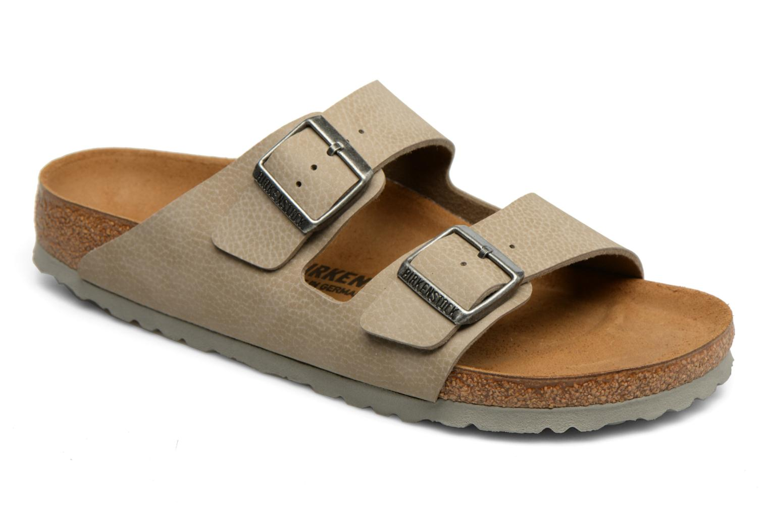 Marques Chaussure homme Birkenstock homme Arizona Flor M Desert Soil Taupe / LS Grey