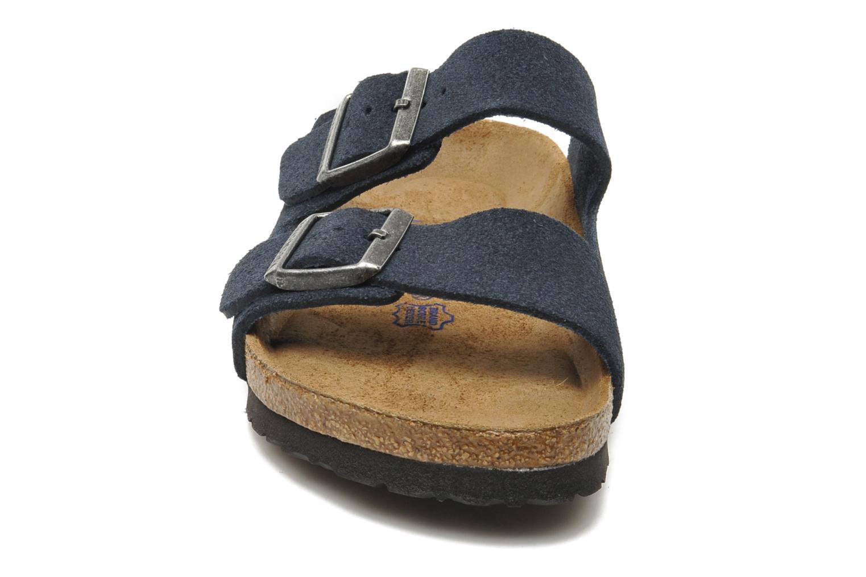 Sandalen Birkenstock Arizona Velours M Blauw model