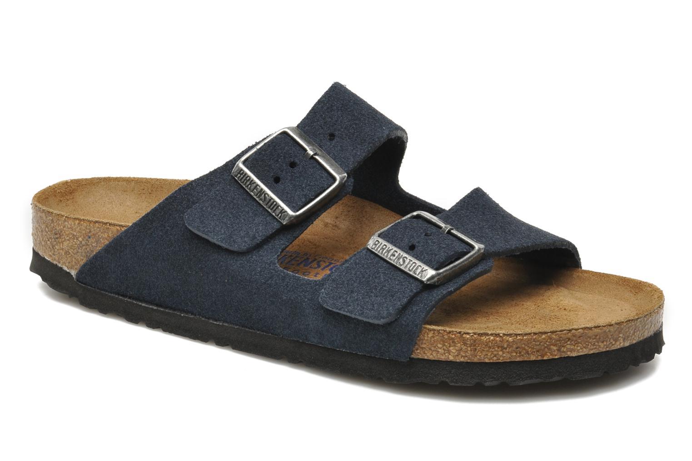 Sandalen Birkenstock Arizona Velours M blau detaillierte ansicht/modell