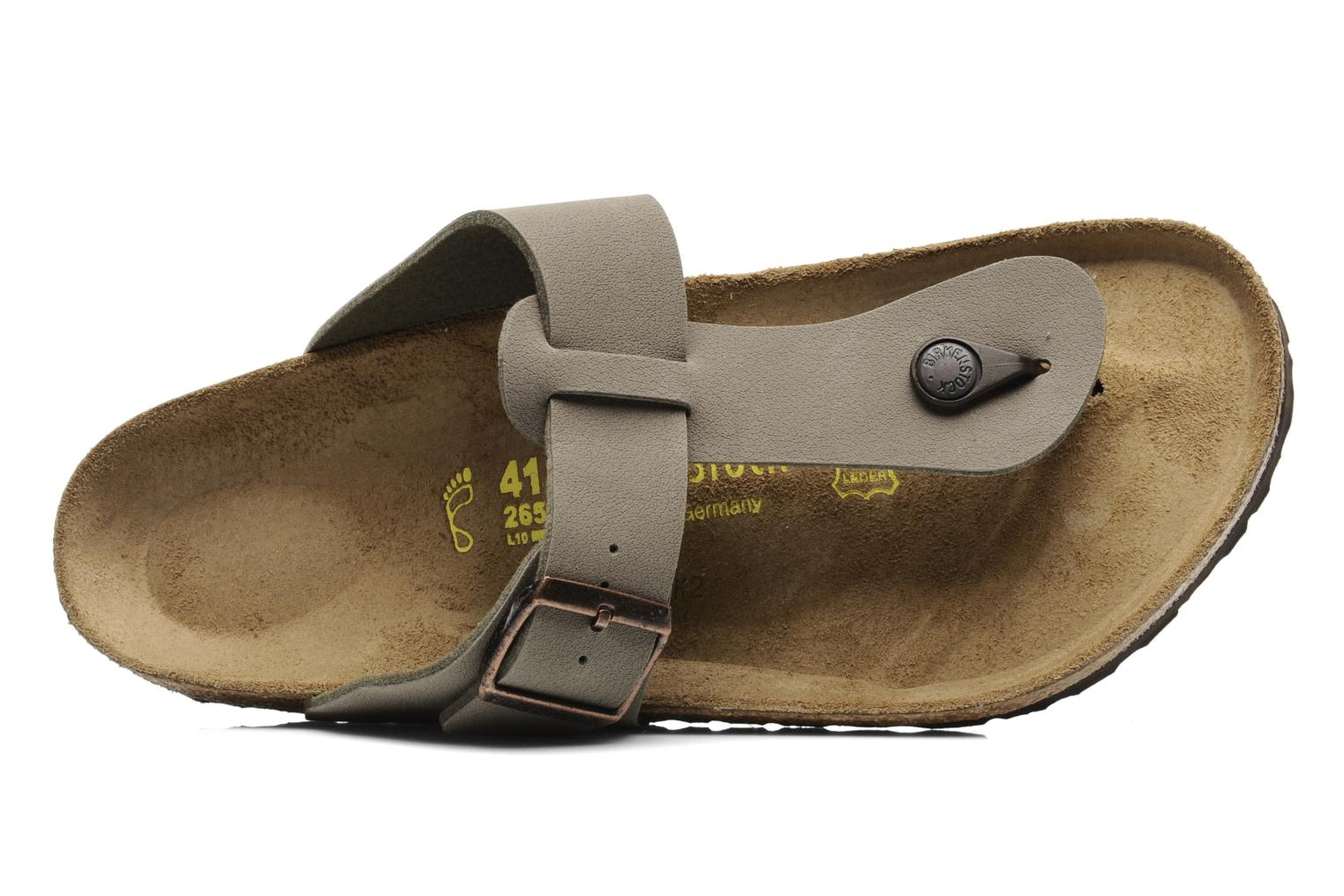 Flip flops Birkenstock Medina Flor M Grey view from the left