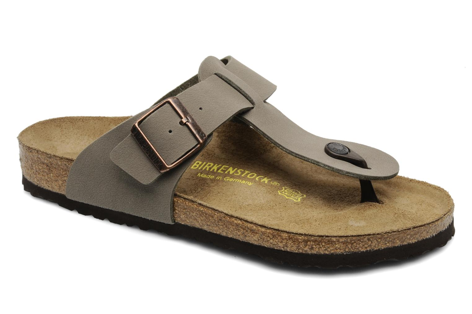 Flip flops Birkenstock Medina Flor M Grey detailed view/ Pair view