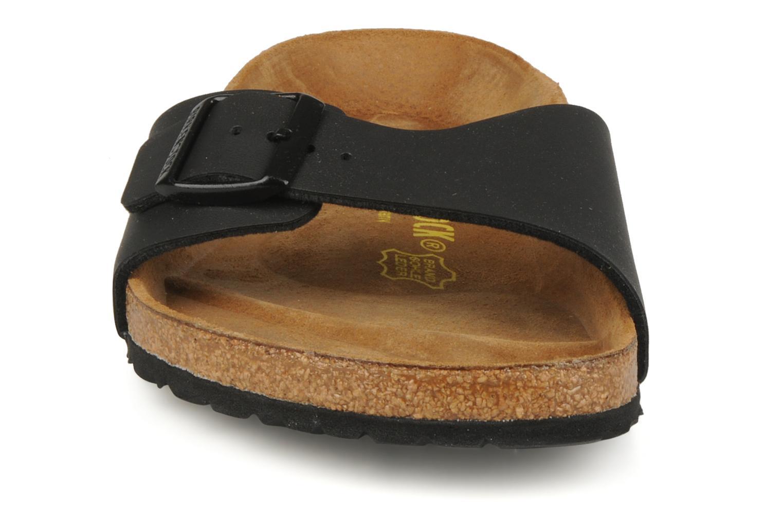Sandalen Birkenstock Madrid Flor M schwarz schuhe getragen