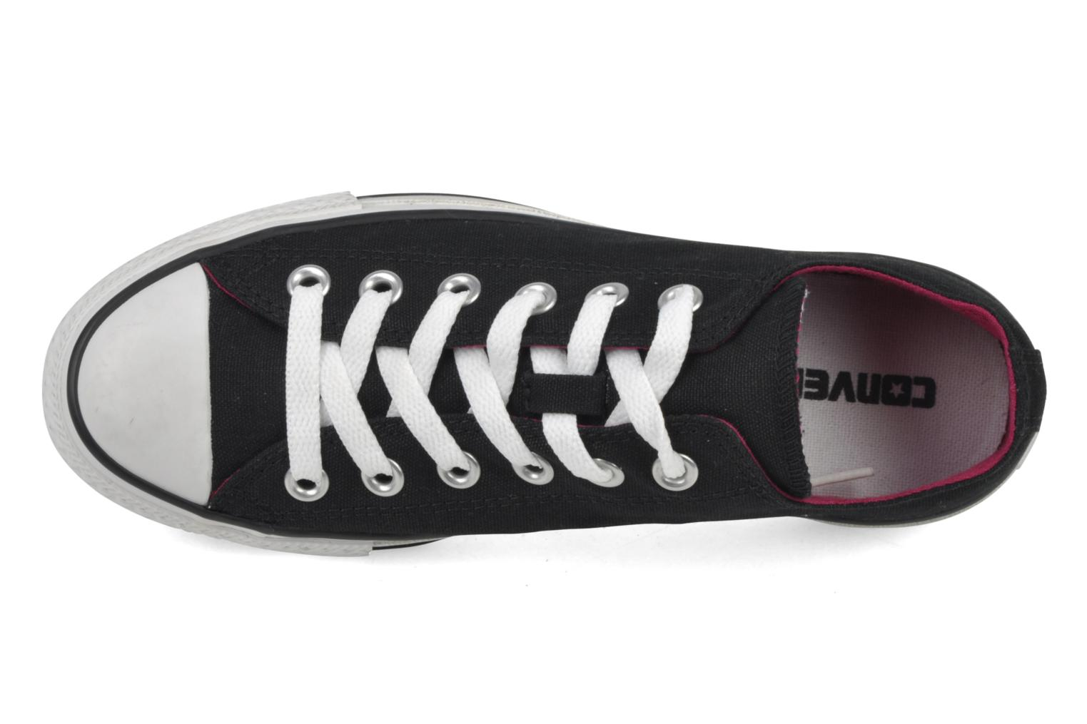 Sneakers Converse Chuck Taylor All Star Double Tongue Ox Sort se fra venstre