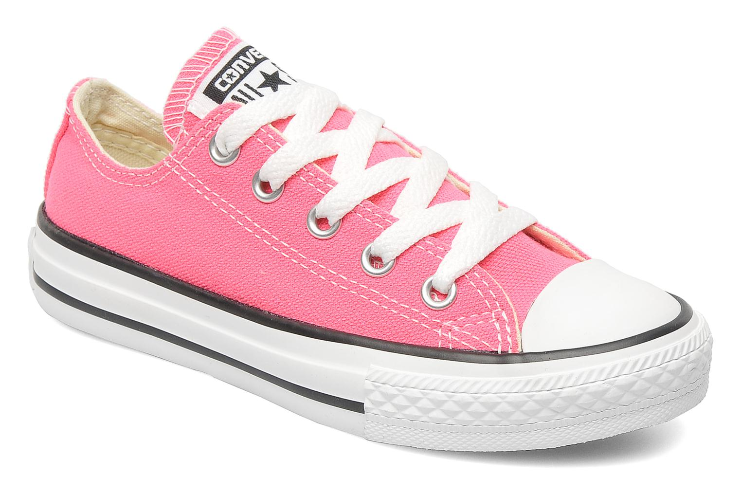 Baskets Converse Chuck Taylor All Star Ox K Rose vue détail/paire