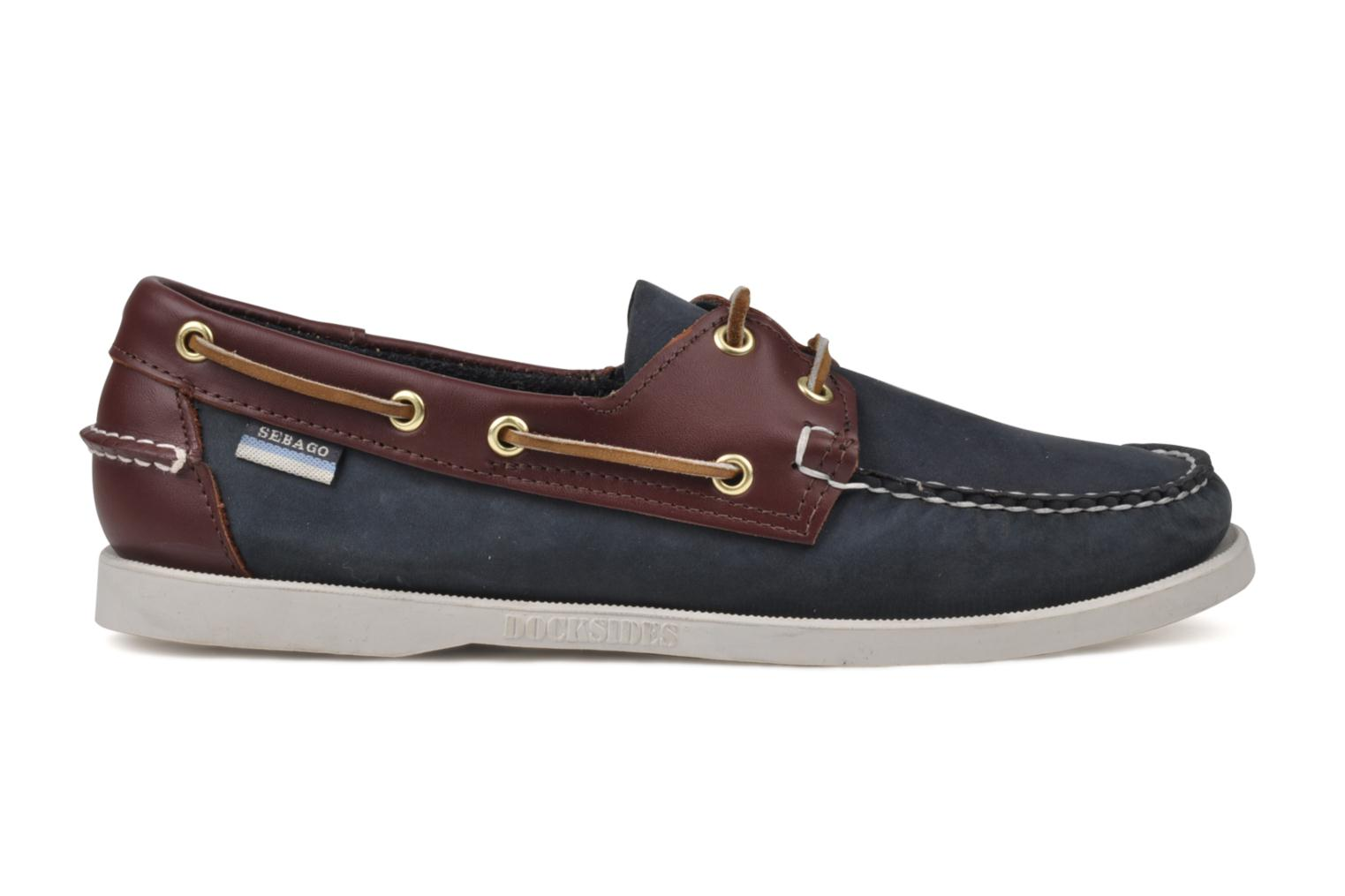 Lace-up shoes Sebago Spinnaker Blue view from the right