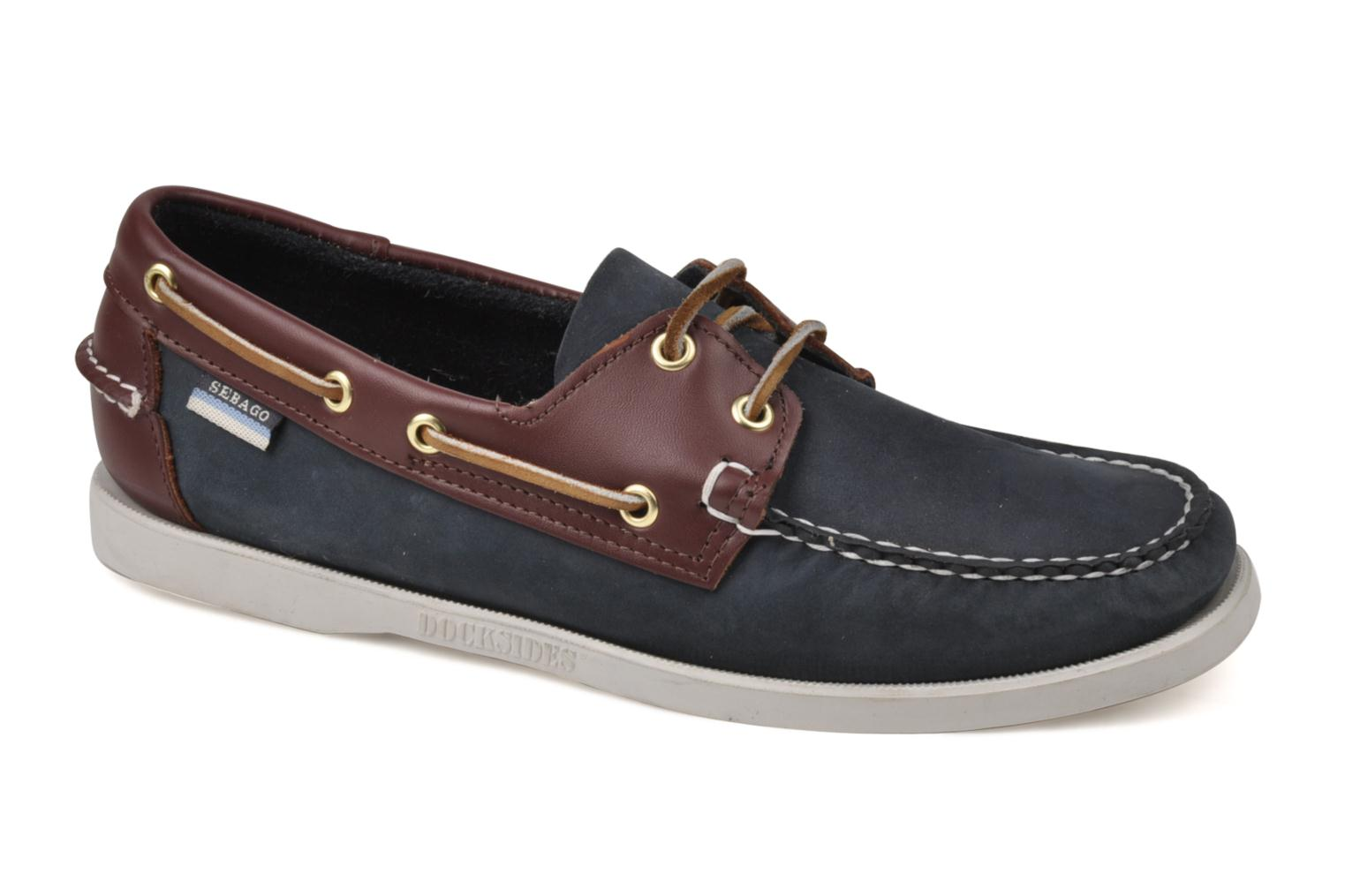 Lace-up shoes Sebago Spinnaker Blue detailed view/ Pair view