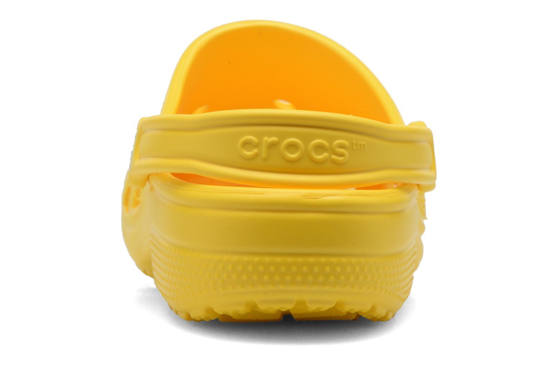 Mules et sabots Crocs Classic F Jaune vue droite
