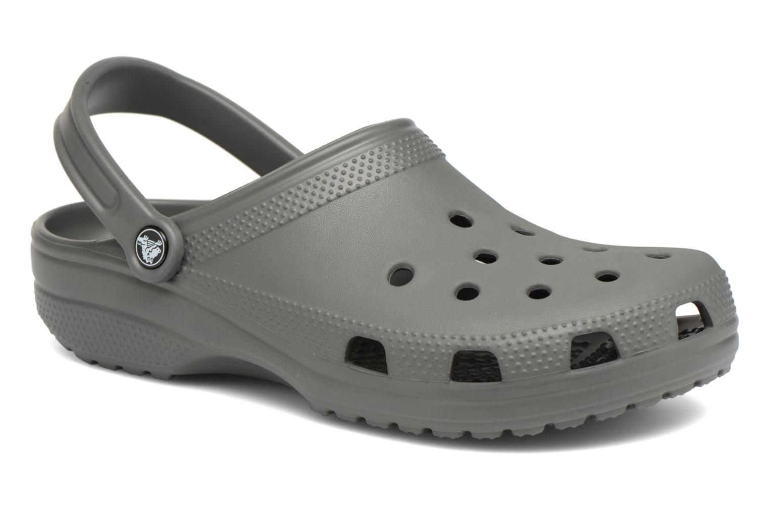 Sandals Crocs Cayman H Grey detailed view/ Pair view