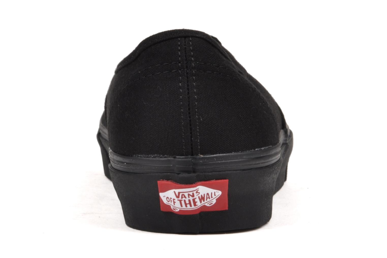 Baskets Vans Authentic Noir vue droite