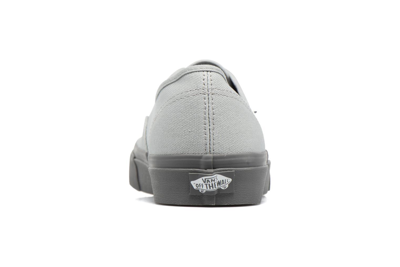 Sneaker Vans Authentic grau ansicht von rechts