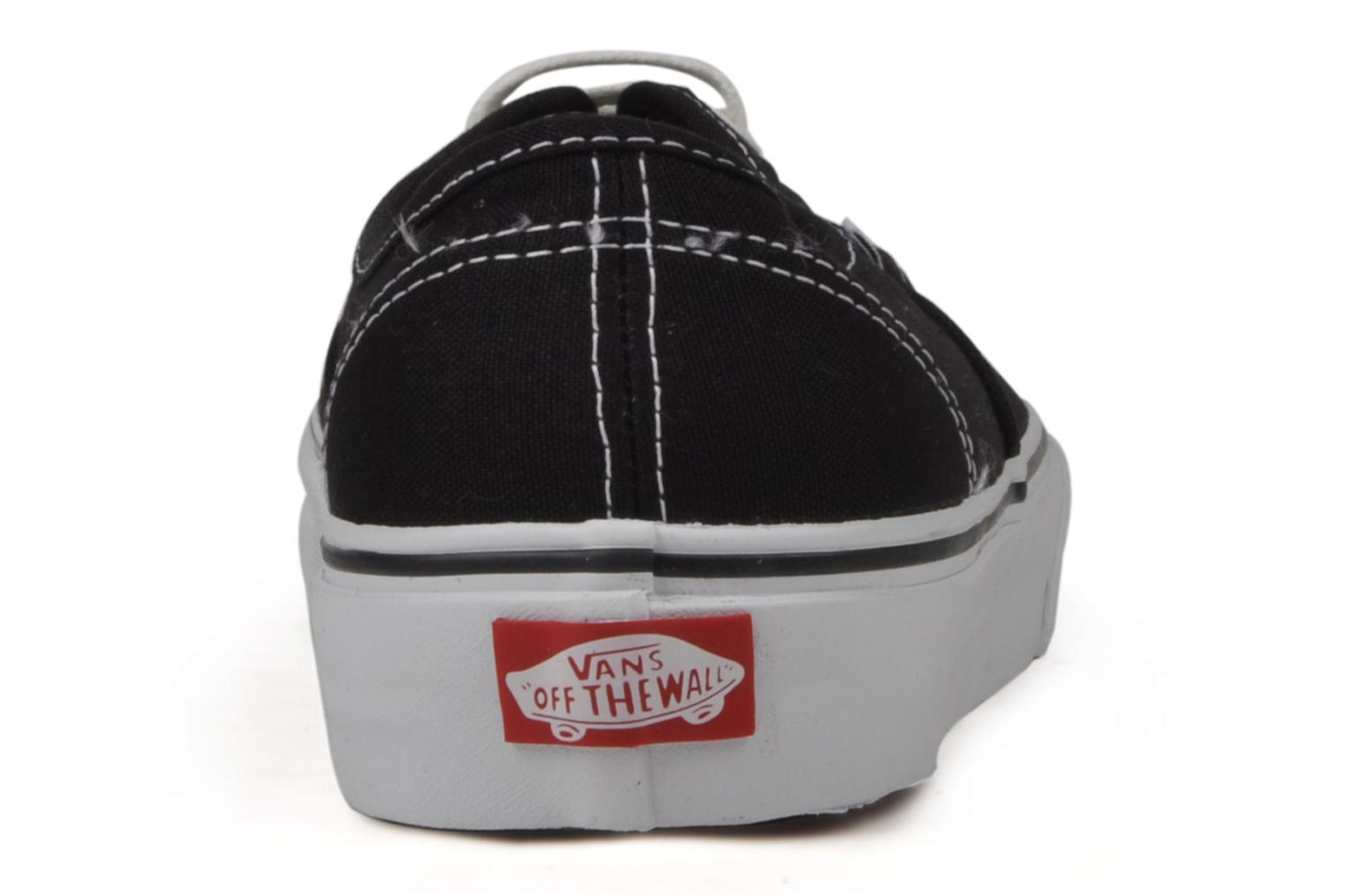 Trainers Vans Authentic Black view from the right