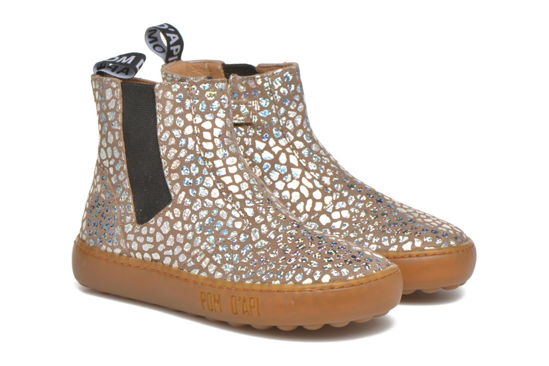 Bottines et boots Pom d Api Walk Jodpur Basic Beige vue 3/4