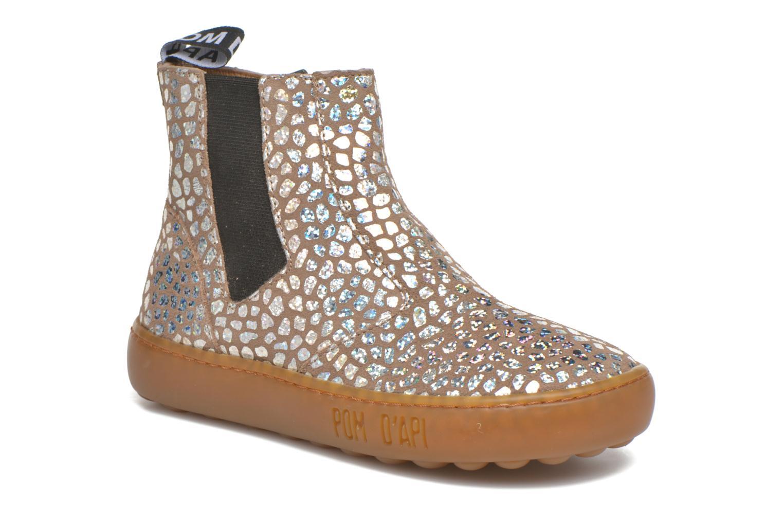 Bottines et boots Pom d Api Walk Jodpur Basic Beige vue détail/paire