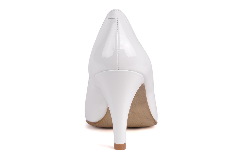 Zapatos de tacón Perlato Lucie Blanco vista lateral derecha