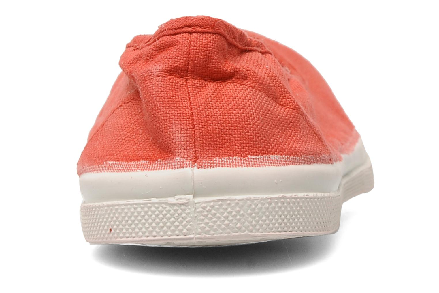 Ballet pumps Bensimon Ballerine Red view from the right