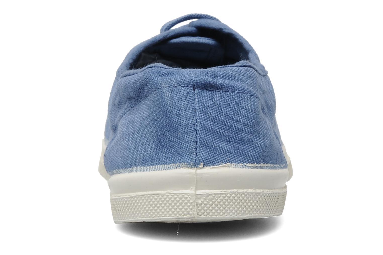 Baskets Bensimon Tennis Lacets H Bleu vue droite