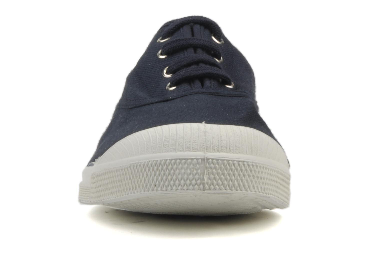 Baskets Bensimon Tennis Lacets H Bleu vue portées chaussures