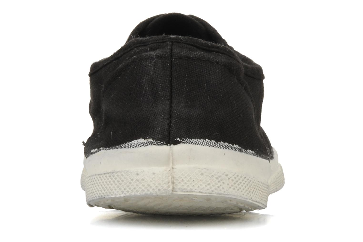 Trainers Bensimon Tennis Lacets H Black view from the right
