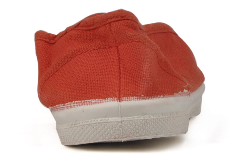 Sneaker Bensimon Tennis Elastique E rot ansicht von rechts
