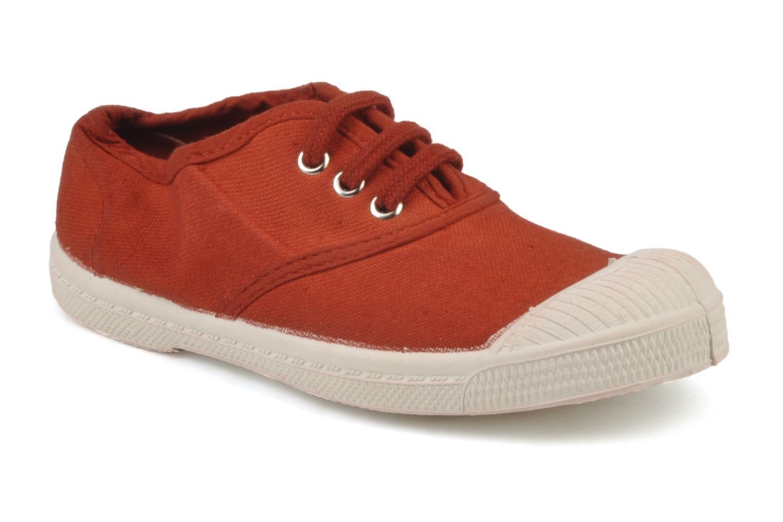 Baskets Bensimon Tennis Lacets E Rouge vue détail/paire
