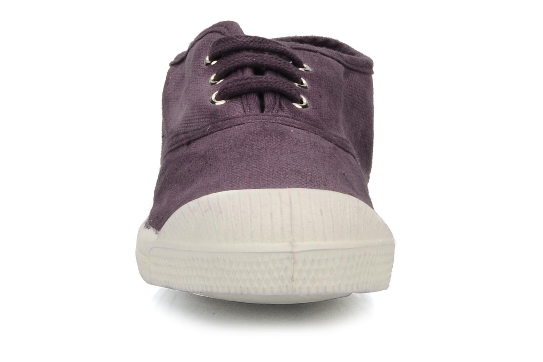 Baskets Bensimon Tennis Lacets E Violet vue portées chaussures