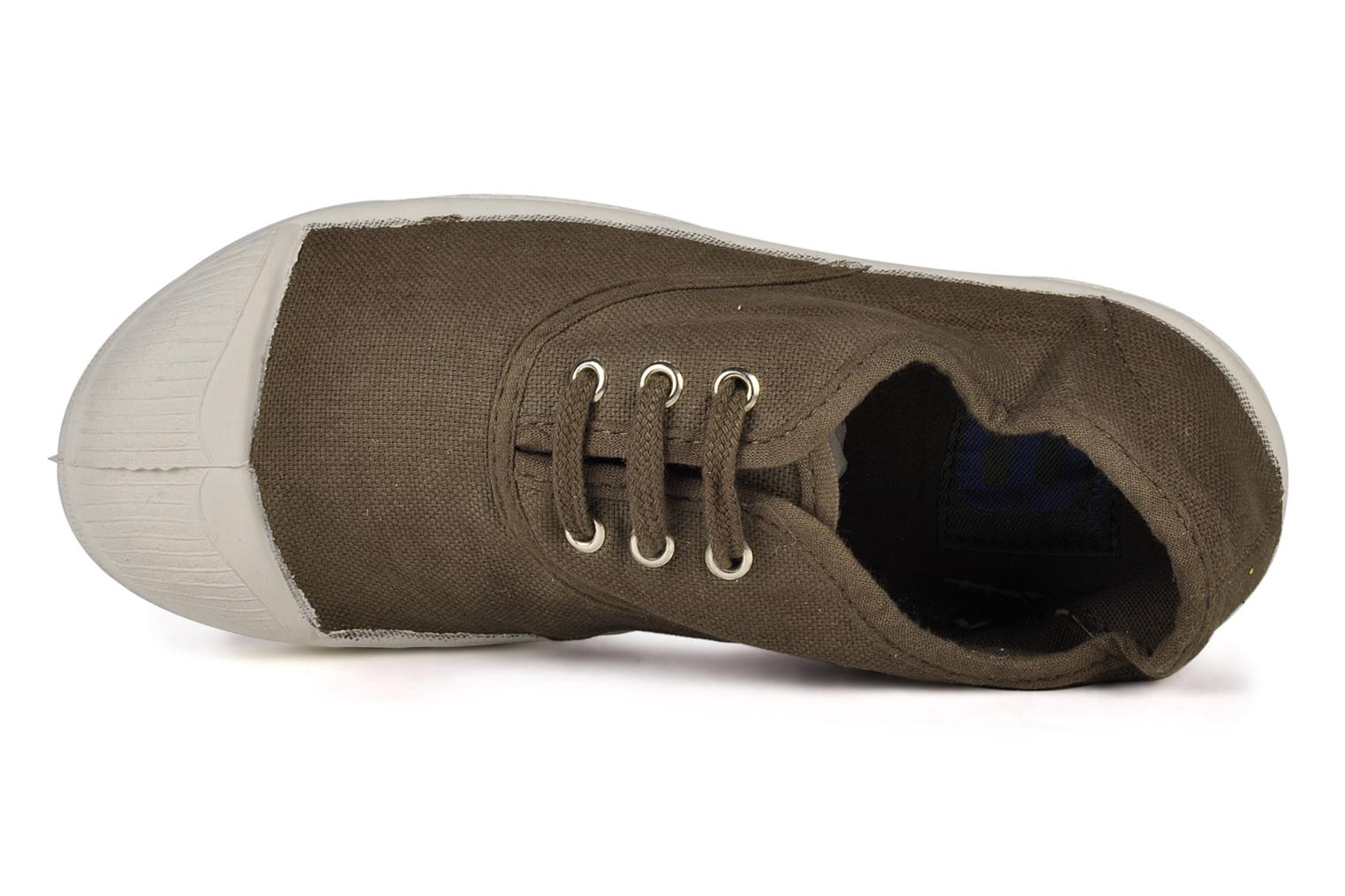 Trainers Bensimon Tennis Lacets E Brown view from the left