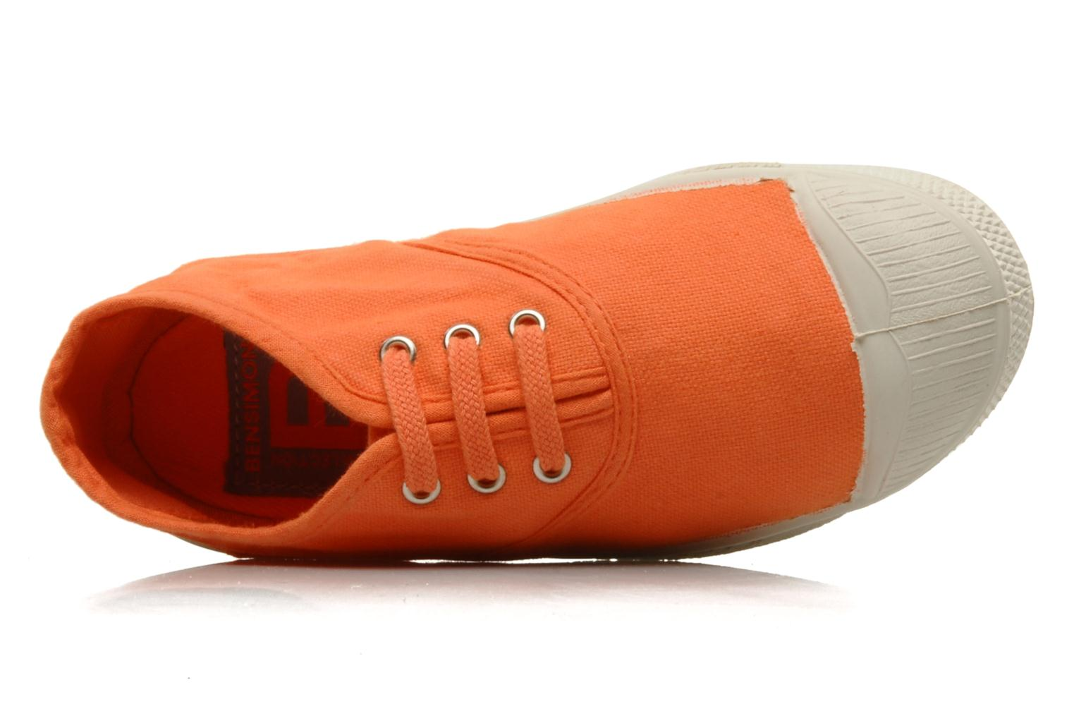 Sneaker Bensimon Tennis Lacets E orange ansicht von links