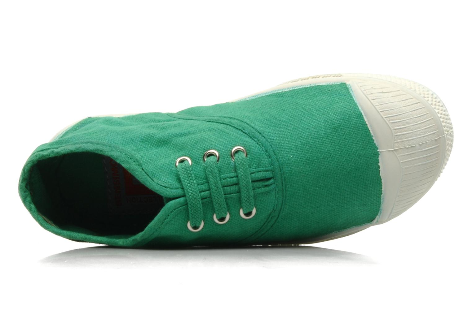 Trainers Bensimon Tennis Lacets E Green view from the left