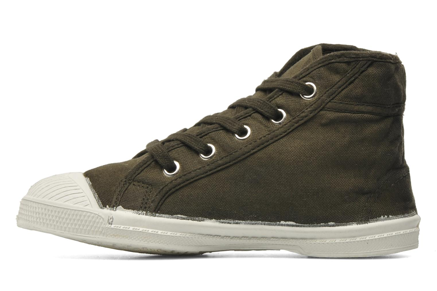 Baskets Bensimon Tennis Mid E Vert vue face
