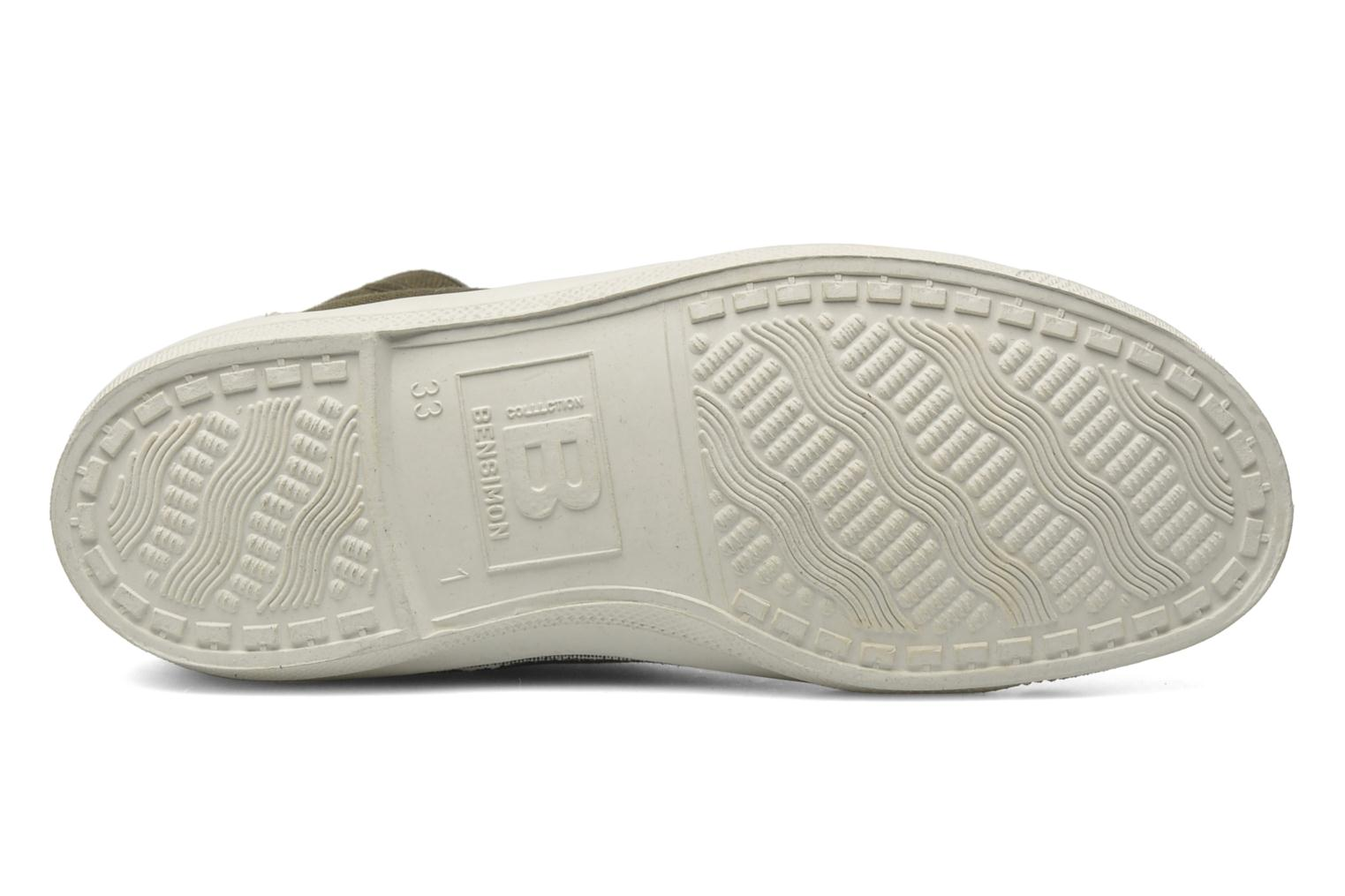 Trainers Bensimon Tennis Mid E Green view from above