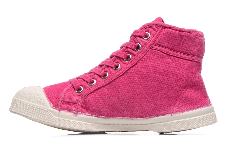 Sneaker Bensimon Tennis Mid E rosa ansicht von vorne