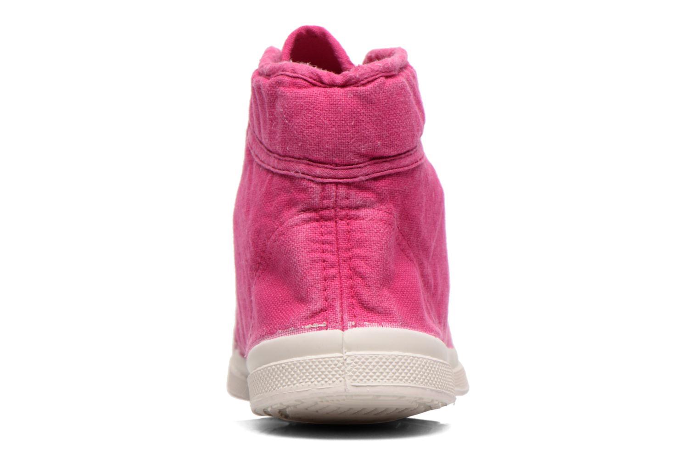 Sneaker Bensimon Tennis Mid E rosa ansicht von rechts