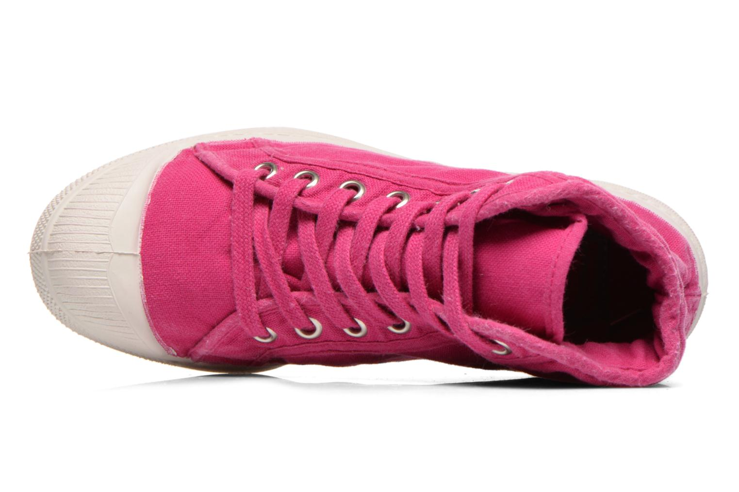 Baskets Bensimon Tennis Mid E Rose vue gauche